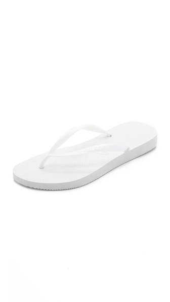 Havaianas Slim Flip Flops - White at Shopbop / East Dane
