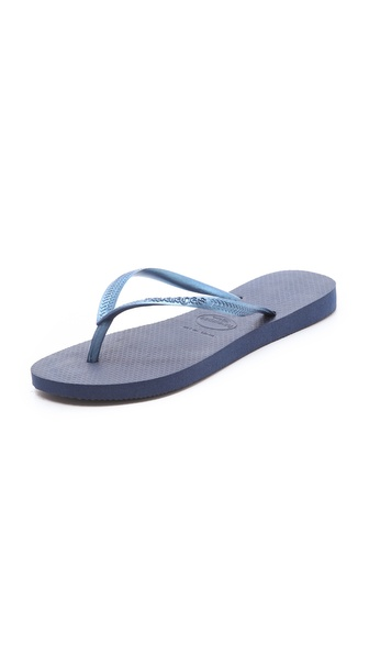 Havaianas Slim Flip Flops - Navy at Shopbop / East Dane