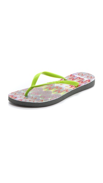 Havaianas Missoni + Havaianas Slim Flip Flops