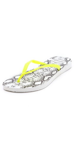 Havaianas Slim Animals Fluoro Flip Flops at Shopbop / East Dane