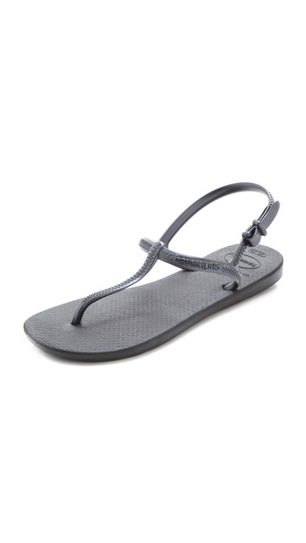 Havaianas Freedom T-Strap Sandals - Black at Shopbop / East Dane