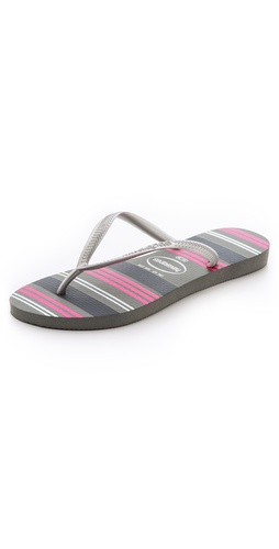 Havaianas Slim Neon Stripe Flip Flops at Shopbop / East Dane