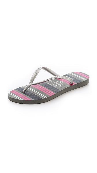 Havaianas Slim Neon Stripe Flip Flops