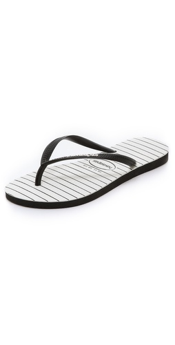 Havaianas Slim Pinstripe Flip Flops at Shopbop / East Dane
