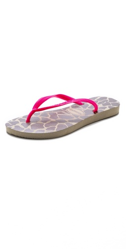 Havaianas Slim Fluoro Animal Flip Flops at Shopbop / East Dane