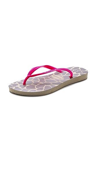 Havaianas Slim Fluoro Animal Flip Flops