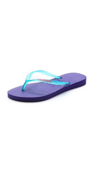 Havaianas Slim Logo Flip Flops - Ice Violet at Shopbop / East Dane