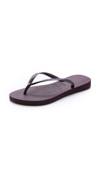 Havaianas Slim Flip Flops - Aubergine at Shopbop / East Dane