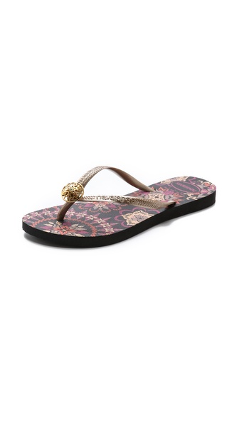 Havaianas Slim Thematic Flip Flops - Black at Shopbop / East Dane