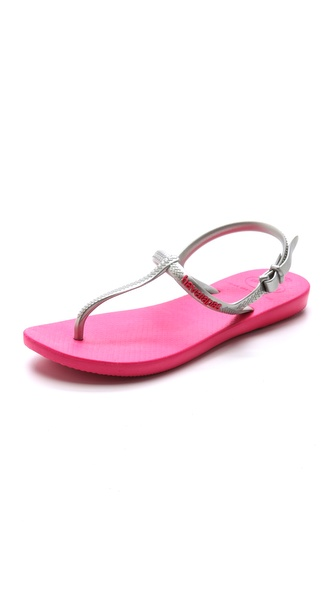 Havaianas Freedom T Strap Sandals - Pink/Silver at Shopbop / East Dane