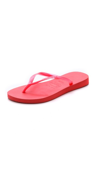 Havaianas Slim Flip Flops - Guava Red at Shopbop / East Dane
