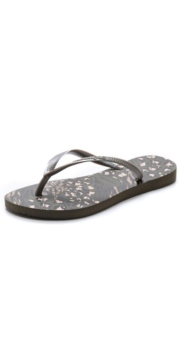 Havaianas Slim Animal Print Flip Flops at Shopbop / East Dane