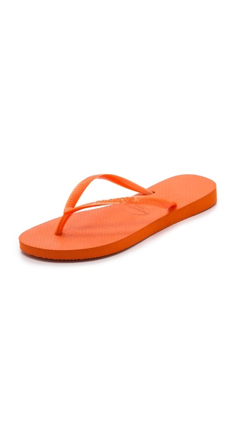 Havaianas Slim Fluoro Flip Flops - Neon Orange at Shopbop / East Dane