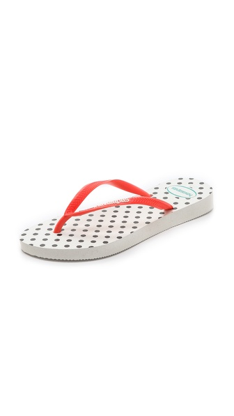 Havaianas Slim Fresh Pop Up Flip Flops - White at Shopbop / East Dane