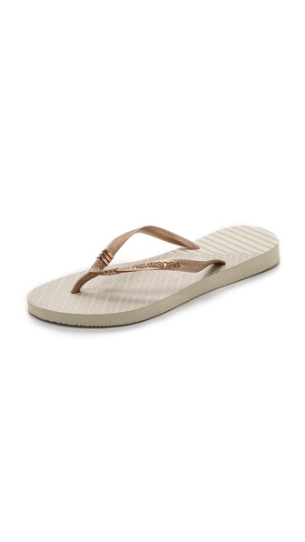 Havaianas Slim Tribal Flip Flops - Beige at Shopbop / East Dane