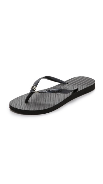 Havaianas Slim Tribal Flip Flops - Black at Shopbop / East Dane
