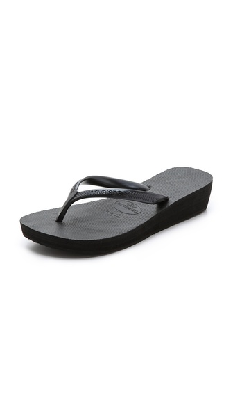 Havaianas High Light Wedge Flip Flops - Black at Shopbop / East Dane