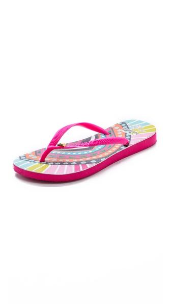 Havaianas Havaianas + Mara Hoffman Rays Slim Flip Flops - Pink at Shopbop / East Dane