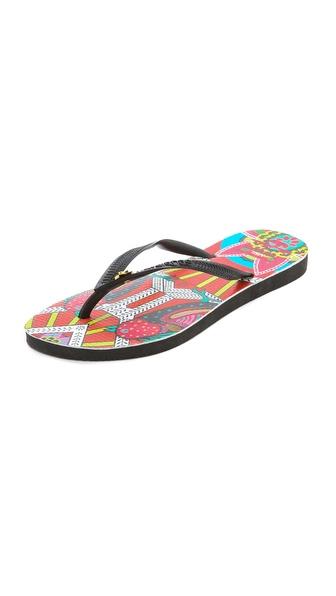 Havaianas Havaianas + Mara Hoffman Ananda Slim Flip Flops - Black at Shopbop / East Dane