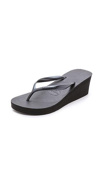 Havaianas 哈瓦那 High Fashion 坡跟夹趾凉鞋