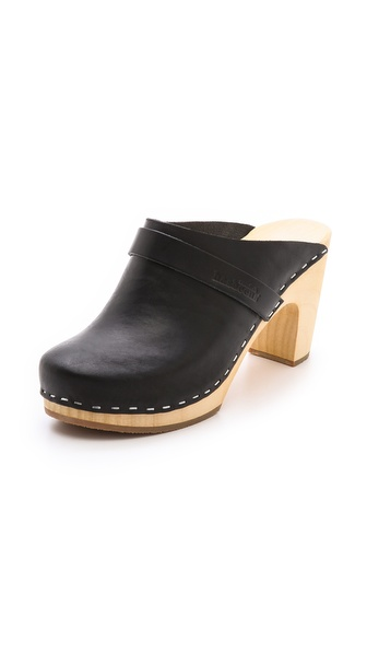 Swedish Hasbeens Slip On Classic Clogs - Black at Shopbop / East Dane