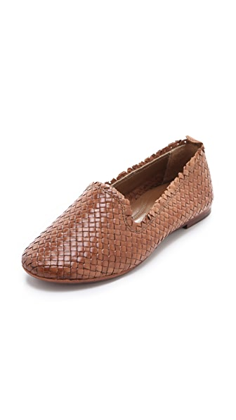 H by Hudson Pyrenees Woven Leather Flats