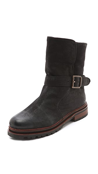 H by Hudson Tatham Sherpa Lined Booties