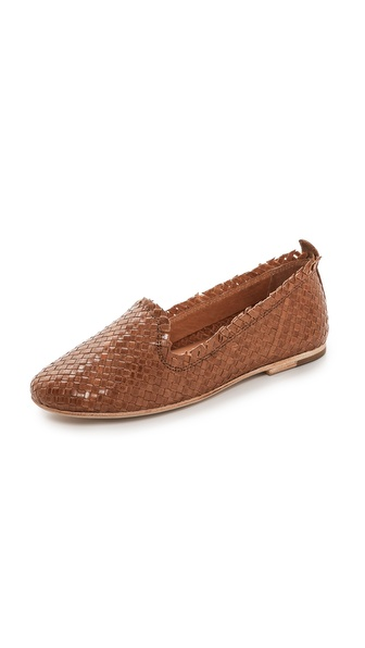 H By Hudson Pyrenees Woven Flats - Tan