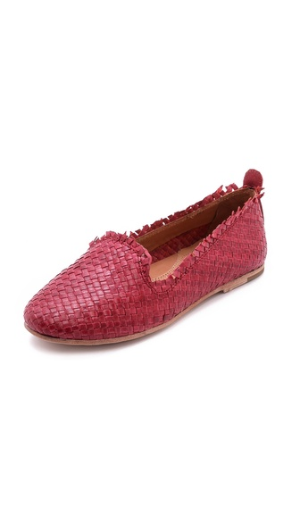 H By Hudson Pyrenees Woven Flats - Pink