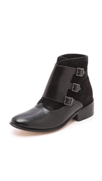 Kupi H by Hudson cipele online i raspordaja za kupiti H By Hudson Harbledown Monk Strap Booties Black cipele