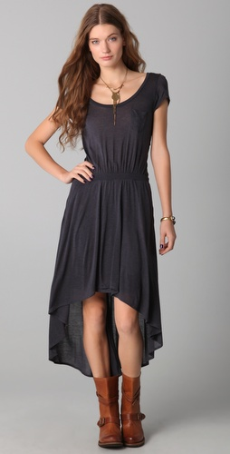 Heather Hi Lo Zip Dress