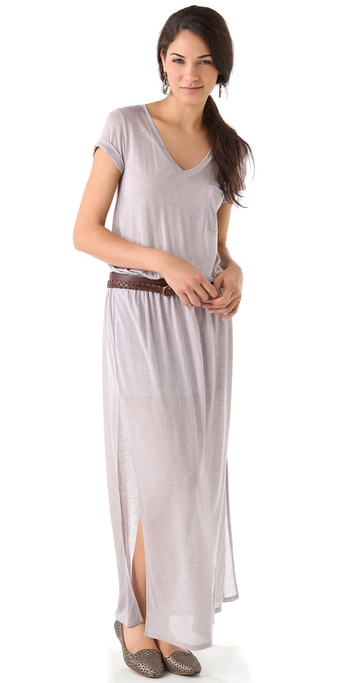 Heather Column Maxi Tee Dress