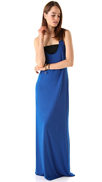 Heather Rib Racer Back Maxi Dress
