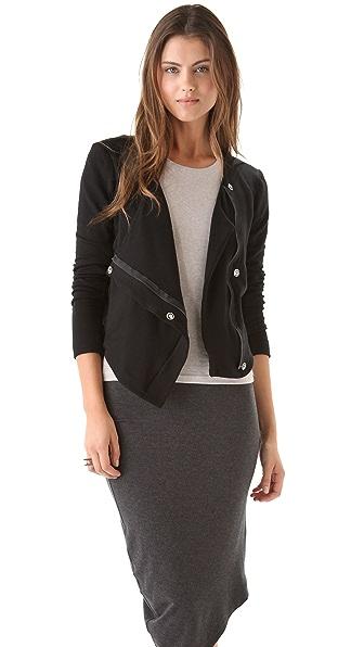 Heather Fleece Bomber Jacket