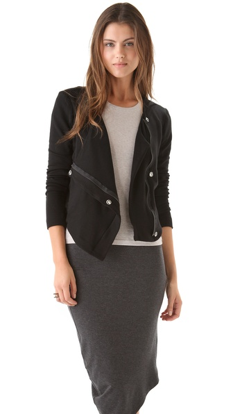 Heather Fleece Bomber Jacket