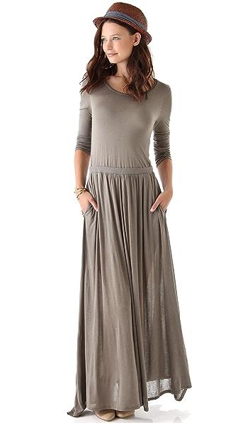 Heather Long Sleeve Maxi Tee Dress