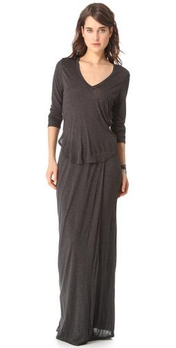 Heather Split Maxi Dress