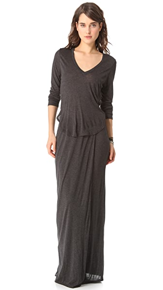 Heather Split Maxi Dress