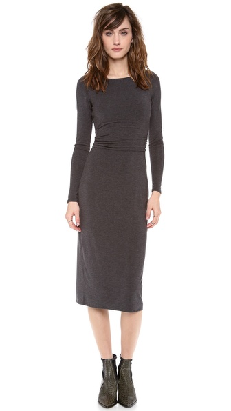 Heather Open Back Midi Dress