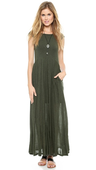 Heather U Back Ballet Maxi Dress