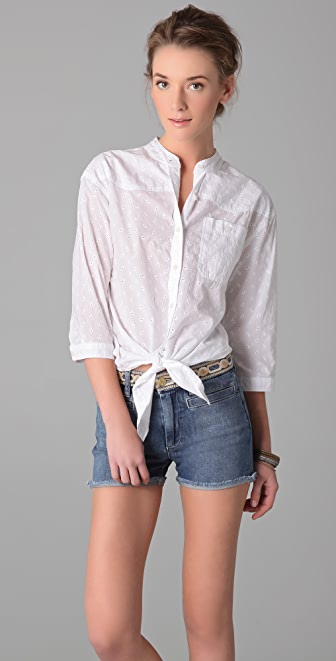 MiH Francoise Tie Front Shirt