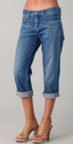 MiH London Boy Cropped Slouch Leg Jeans