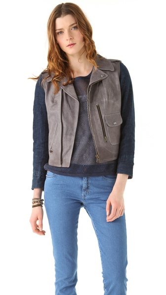 MiH Leather Pistol Pocket Biker Jacket