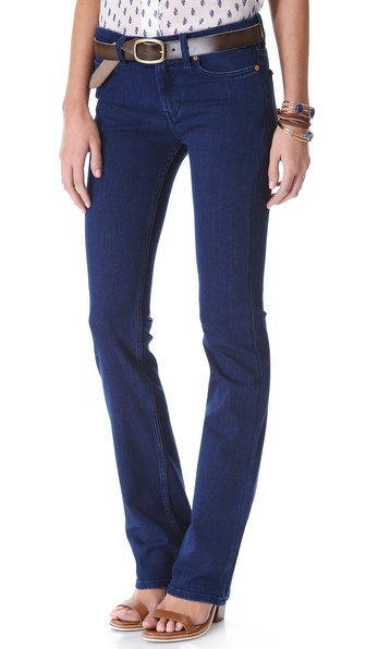MiH London Mid Rise Boot Cut Jeans