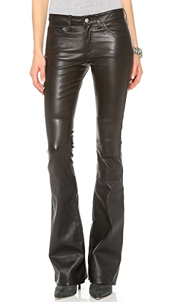MiH Marrakesh Leather Kick Flare Pants