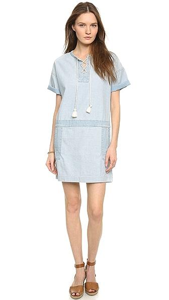 Kupi MiH haljinu online i raspordaja za kupiti Mih The Poncho Dress Desert Denim online
