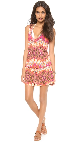 Heidi Klein Plaited Drawstring Cover Up Dress