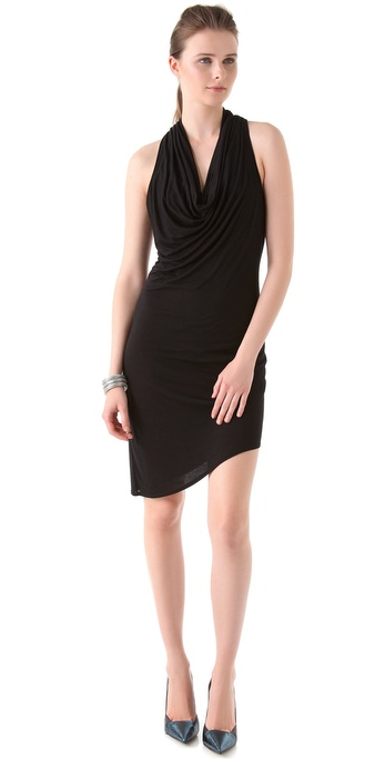 HELMUT Helmut Lang Kinetic Jersey Racer Back Dress