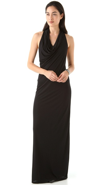 HELMUT Helmut Lang Kinetic Jersey Racer Back Maxi Dress