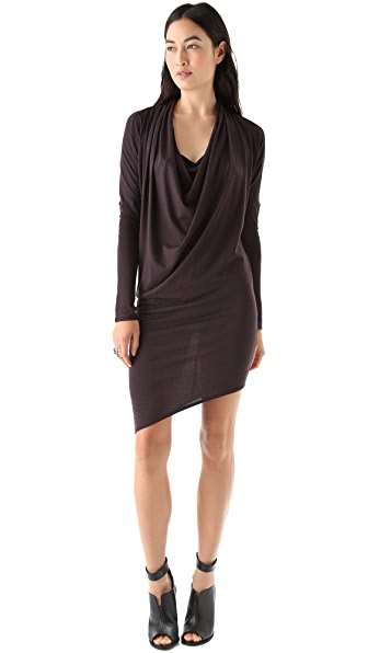 HELMUT Helmut Lang Feather Dolman Dress